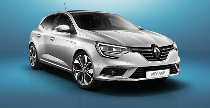 Grijze Renault Megane