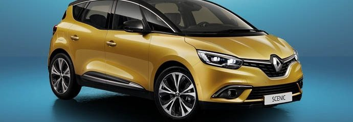 Gele Renault SCÉNIC